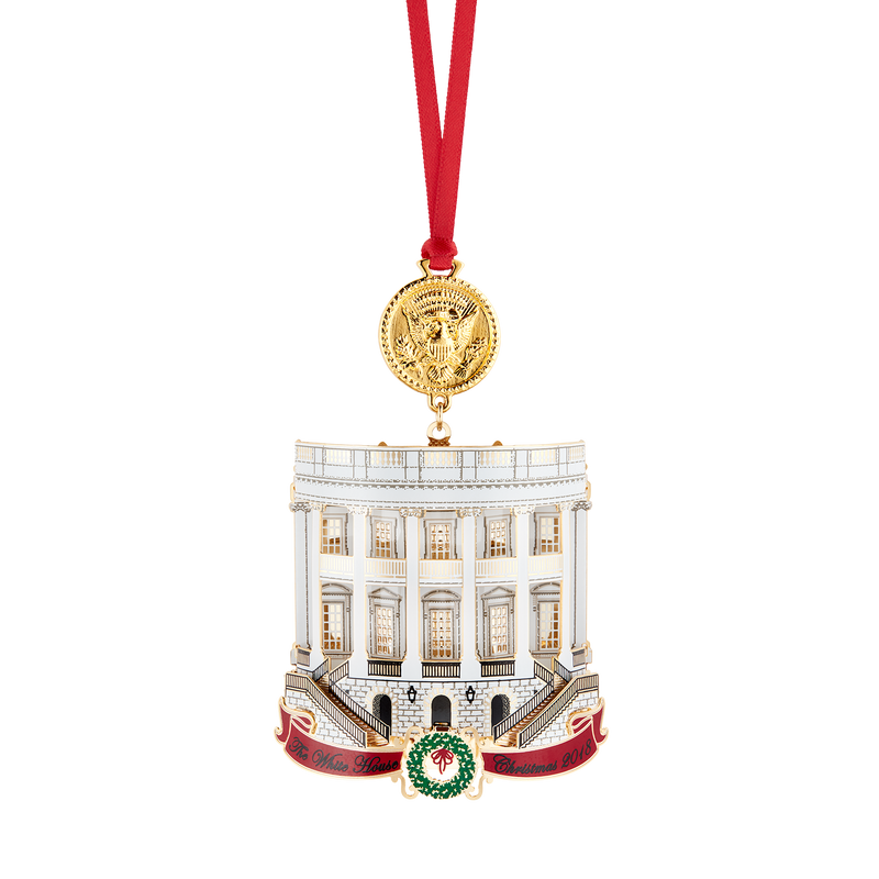 Official 2018 White House Christmas Ornament-Front