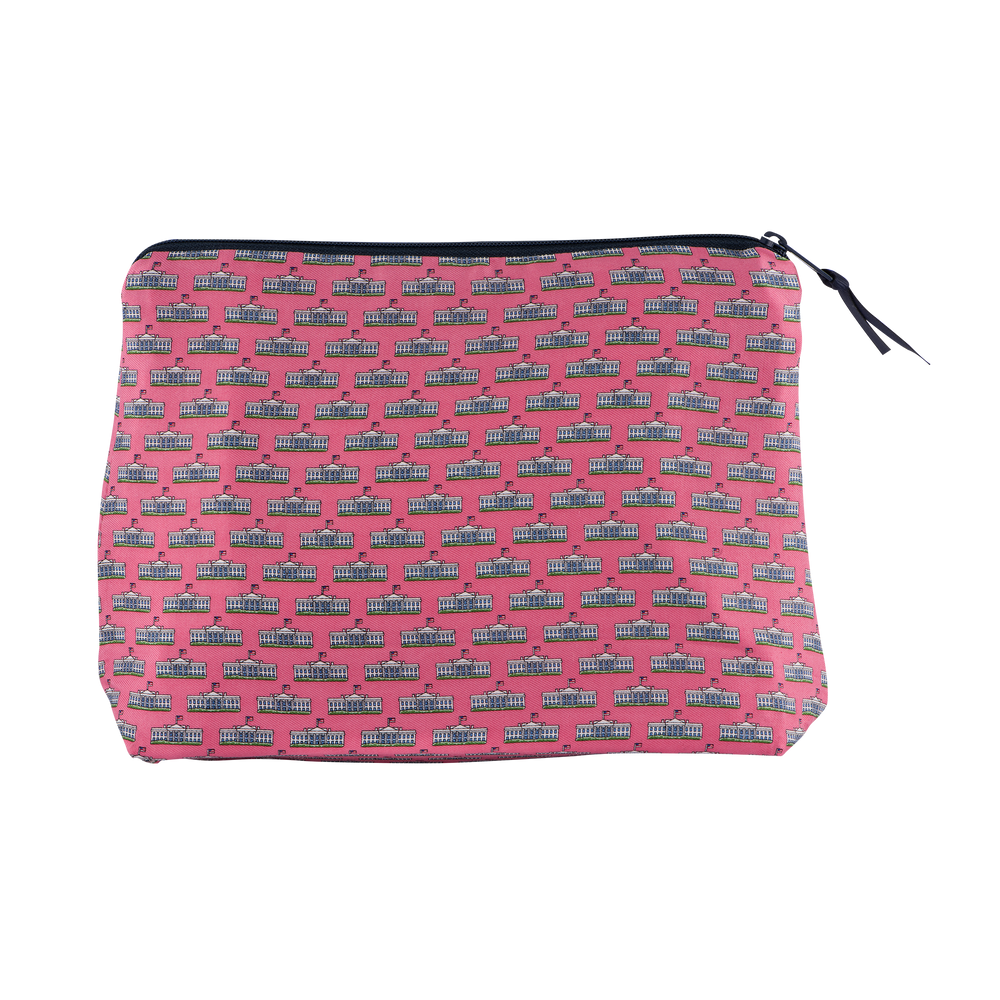 Vineyard Vines Pink Makeup Bag-Back
