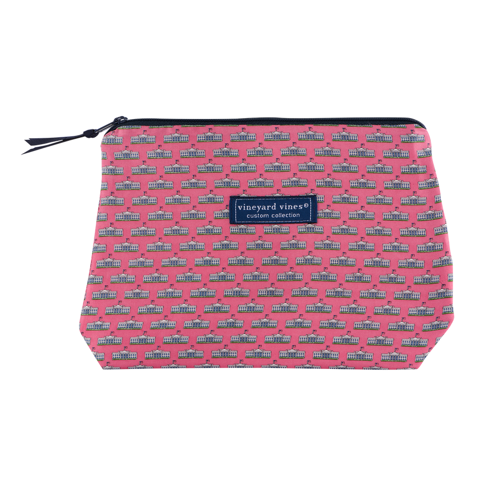 Vineyard Vines Pink Makeup Bag-Front