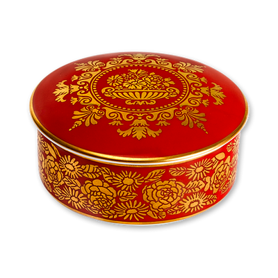 Red Room Limoges Box-With Lid