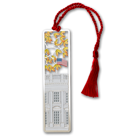 Autumn White House Bookmark