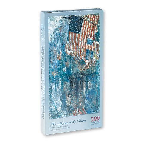 Avenue in the Rain Puzzle-500 piece-Front of Box