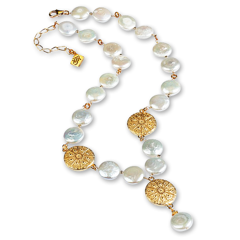 Eisenhower Coin Pearl Necklace