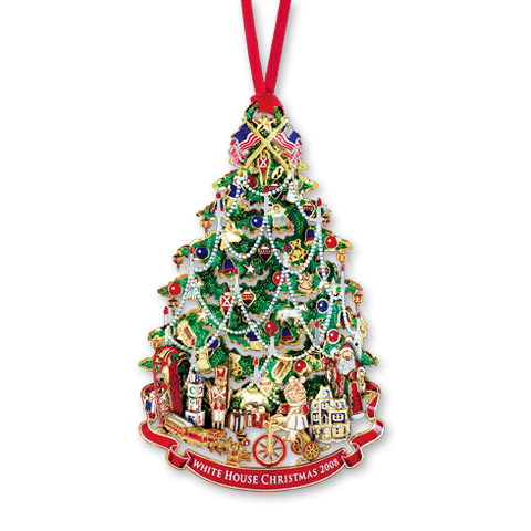 2008 White House Christmas Ornament, A Victorian Christmas Tree-Front