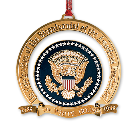 1989 White House Christmas Ornament, The Bicentennial of the Presidency