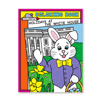Holidays at the White House Coloring Book-Front Cover