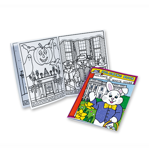 Holidays at the White House Coloring Book-Front and Open Page