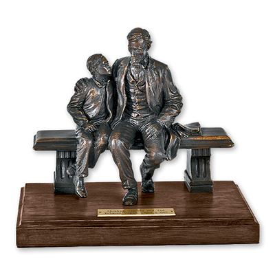 Lincoln and Tad Sculpture