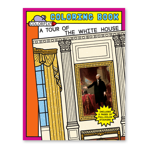 Beautiful colored stickers of famous White House paintings