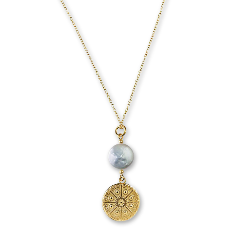 Eisenhower Single Coin Pearl Necklace