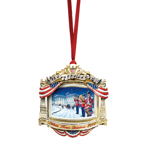 2010 White House Christmas Ornament, The U.S. Marine Band-Front