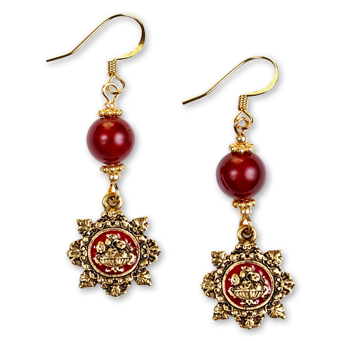 Red Room Wire Earrings