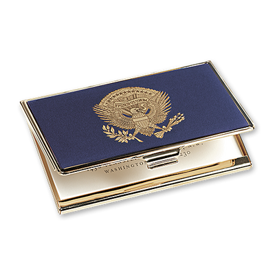 Card case featuring the American Bald Eagle from the Presidential Coat of Arms