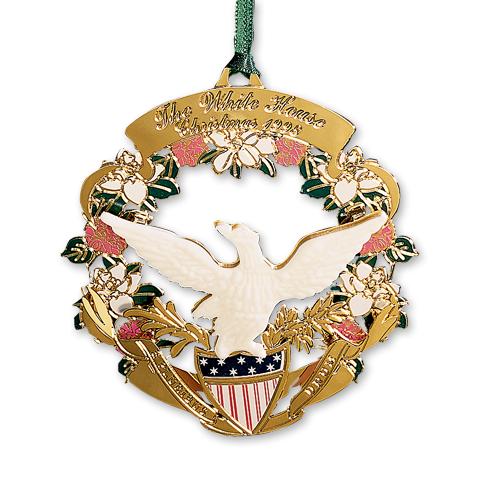 1998 White House Christmas Ornament, The American Bald Eagle and Shield-Front