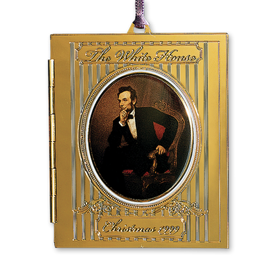 1999 White House Christmas Ornament, President Abraham Lincoln's Portrait