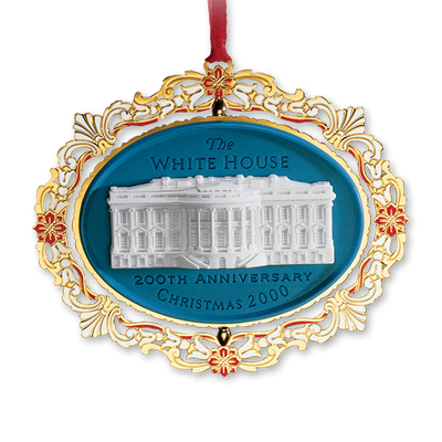 2000 White House Christmas Ornament, 200th Anniversary of the White House-Front
