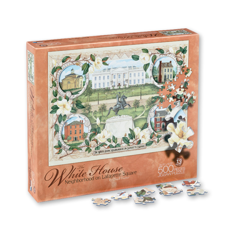 The White House Neighborhood Puzzle-500 Piece-Front of Box