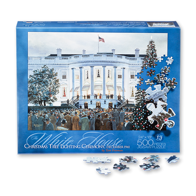 White House Christmas Tree Lighting 1941 Puzzle