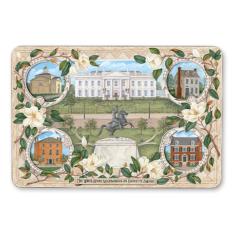 white house four neighborhoods placemat front view