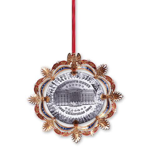 2002 White House Christmas Ornament, The East Room in 1902-Front