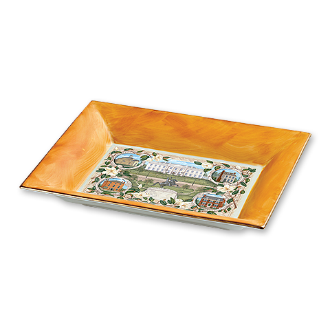 White House Neighborhood Limoges Tray