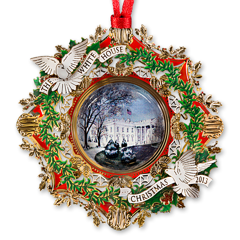 2013 White House Christmas Ornament-The American Elm Tree-Front