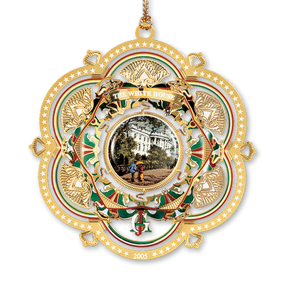 2005 White House Christmas Ornament, The South Façade-Front