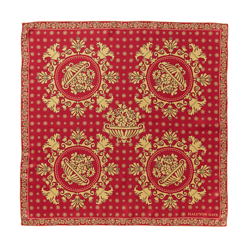 Red Room Printed Scarf