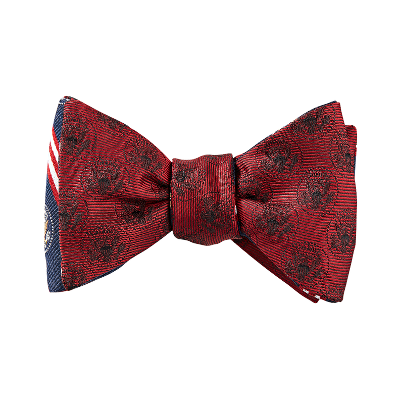 Brooks Brothers Truman Seal Double-Sided Bow Tie-Red
