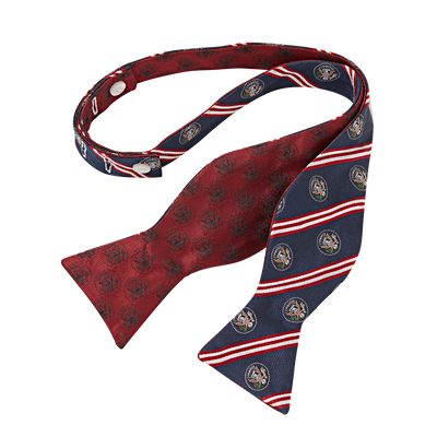 Brooks Brothers Red Double-Sided Truman Seal Bow Tie