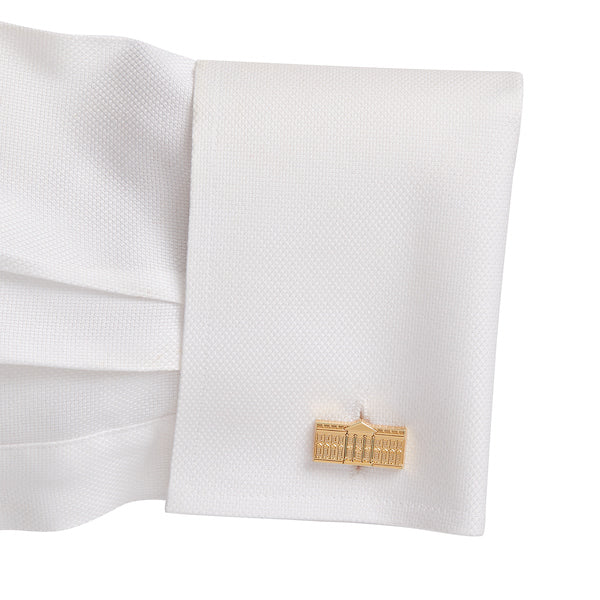 White House Cuff Links, North and South View - Gold Plated