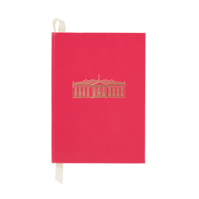 Large Fuchsia White House Notebook-Front