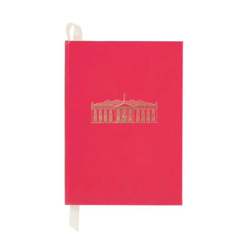 Large Fuchsia White House Notebook
