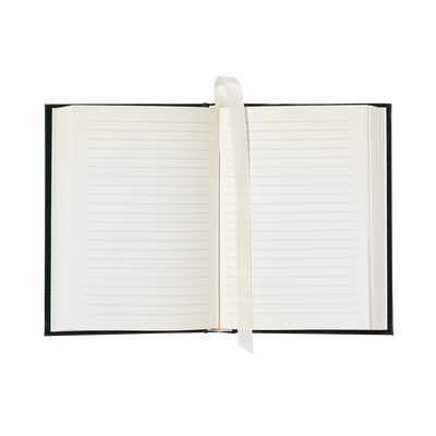 Small Emerald Green White House Notebook-Open Page