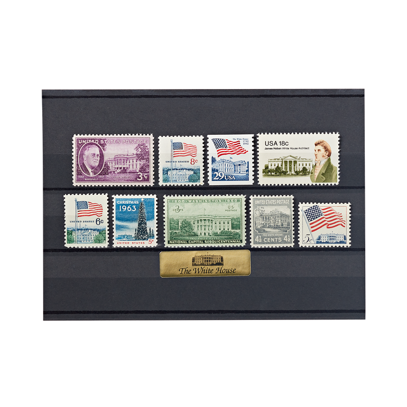 Collection of 9 historic stamps