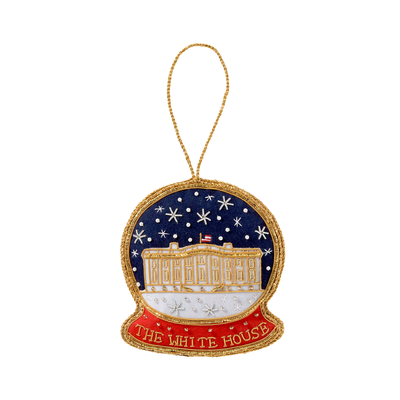 White House Snowglobe Ornament