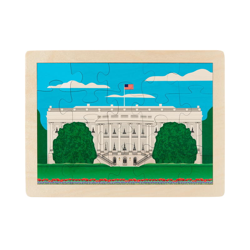 Wooden White House Puzzle-Front