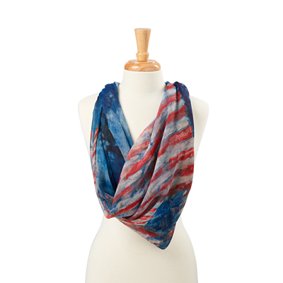 Avenue in the Rain Scarf-Draped