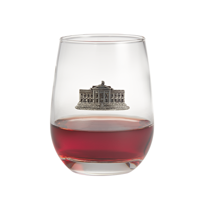 Stemless White House Wine Glasses-Front