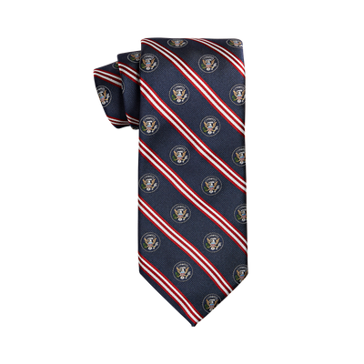 Truman Seal Stripe Navy Tie