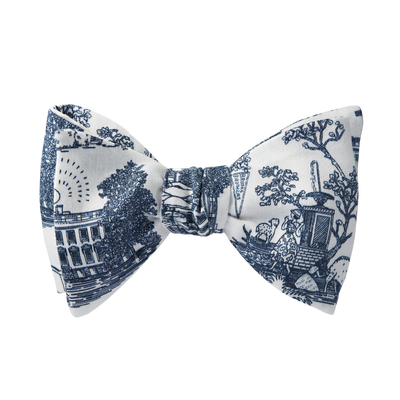 "brooks-brothers ""americana"" themed toile-print bow tie"