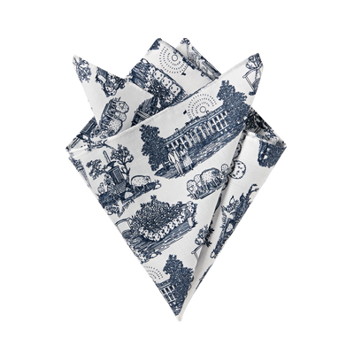"brooks-brothers ""americana"" themed toile-print pocket square"