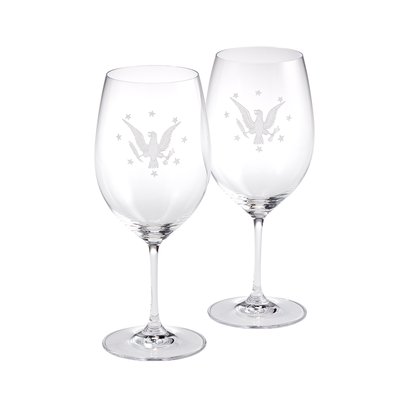 USS Williamsburg Presidential Yacht Wine Glass Set by Riedel
