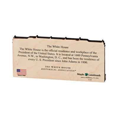Small Wooden White House Plaque-back