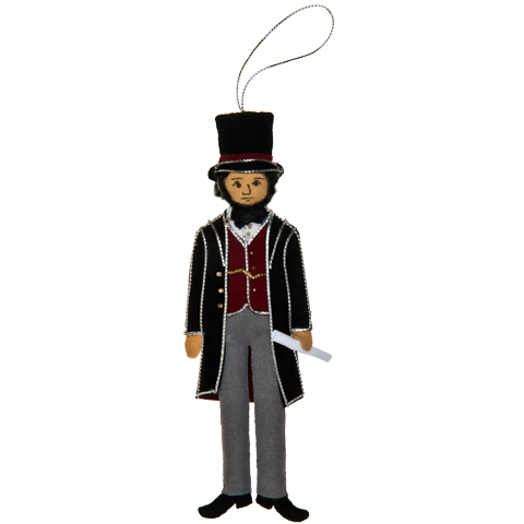 Abraham Lincoln Ornament-Front