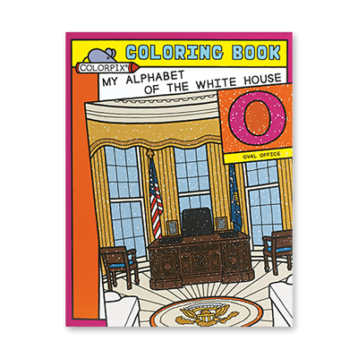 My Alphabet of the White House Coloring Book-Front Cover