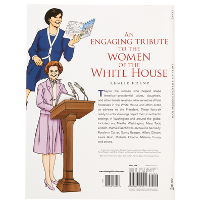America's First Ladies Coloring Book-Back Cover