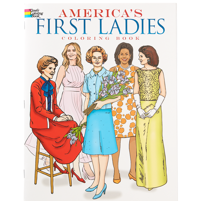 America's First Ladies Coloring Book-Front Cover