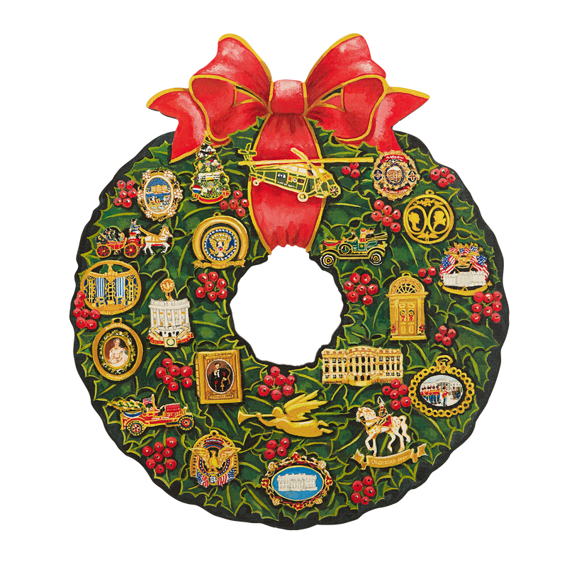 Official Ornaments Wooden Wreath