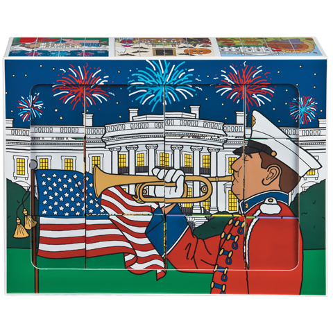 White House Holiday Block Puzzle-Front of Box